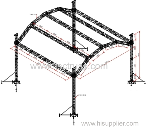 Aluminum Truss Halfmoonf Roof for Rental Business