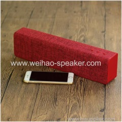 High sound Quality Rectangle Portable Wireless Bluetooth Speaker fabric material