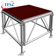 Aluminum Portable Stages with Adjustable Feet