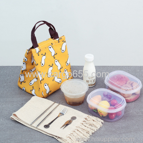 Insulated Thermal Cold Lunch Bag Kids Student Food Lunch Pack Portable Beach Outdoor Picnic Fold Lunch Boxes Bags
