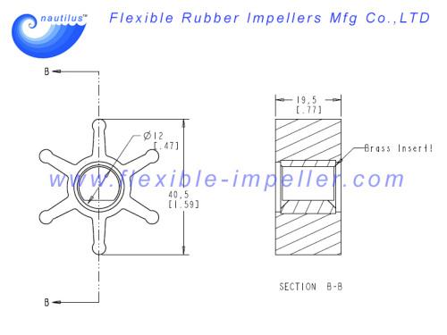 Impeller Replace KOHLER 359978 for 4EF 4EFCD 5E 5ECD 6EF 6EFCD 7.3E 7.3ECD