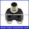 High quality Indus-connector manufacturer provide m12 8 pin sensor shielded y cable connector
