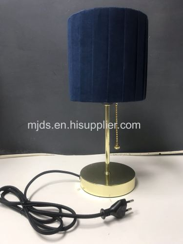 Children Table Lamp With Accordion Pleats Velvet Shade