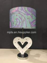 Poly Table lamp With Swirl Shade
