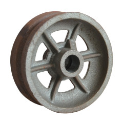 HT200 GG20 gray iron sand casting wheel OEM customized cheap mechanical components