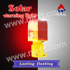 Red square tube base solar warning light