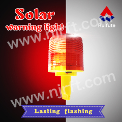 Red inserted and fixed road safety solar warning light