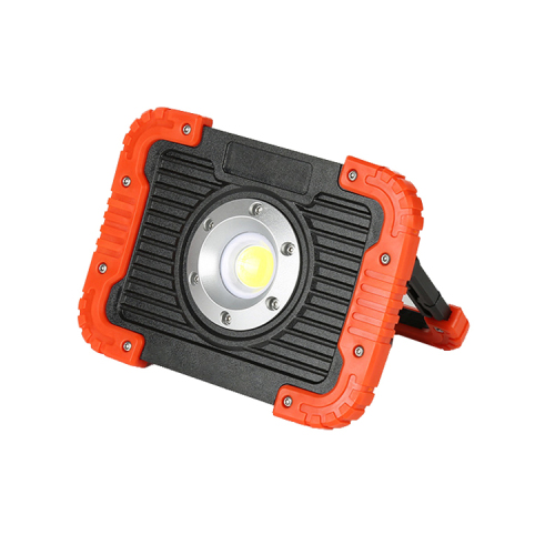 Handhold rechargeable LED flood light with power bank function