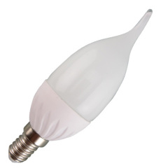 3W 4W 5W 6W LED candle bulb tailed C37T 280lm/380lm/450lm/520lm PC alu. body E14