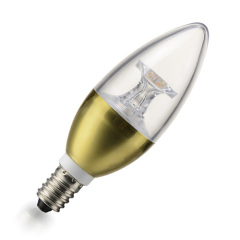 LED candle buln gold chrome plated with light post max5W IC driver