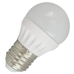 3W 4W 5W 6W LED global bulb G45 280lm/380lm/450lm/520lm PC alu. body E27