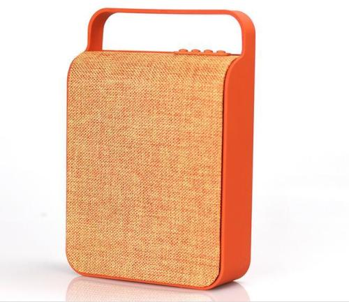 New Design Fabric Material Waterproof Portable Bluetooth Speaker 10W support USB TF Card FM Radio hands free AUX