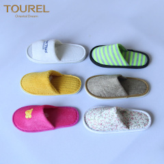 Different materials and different styles slippers for hotel spa travel resort