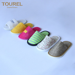 Spa Slippers Hotel Slippers Close Toe For Women With Personalized Logo