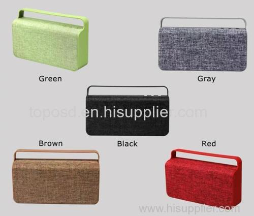 Portable Bluetooth Speakers bass sound 10W Fabric speaker