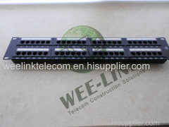 "19"" 1U 24 Port Cat6 UTP Snap-in Patch Panel"