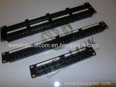 Cat6/cat5e UTP patch panel 24 port for networking
