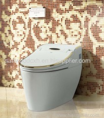 Golden luxurious stable performance multifunction intelligent smart toilet