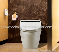 Elite Washdown automatic cleaning Smart lavatory nightstool with floor mounted