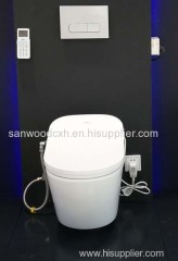 Suspended smart toilet bidet wall hung wall drainage