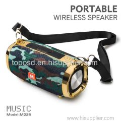 The new M228 wireless bluetooth speaker is a convenient low-tone gun with long round gold plating bluetooth speaker