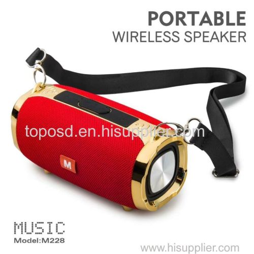 outdoor portable subwoofer wireless stereo speakers with straps MP3 music player