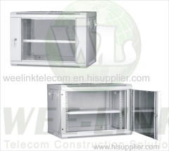 Tempered glass 4u wall mounted network cabinet