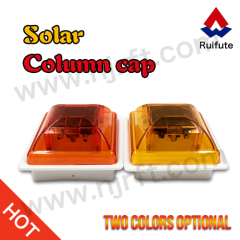Yellow road safety solar traffic warning lights for guardrails