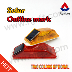 Rectangle screw installation road warning light
