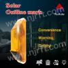 Super bright solar warning light