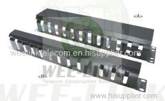 organisateur de câbles en plastique 1U 2U