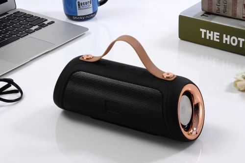 Portable mini wireless bluetooth speaker with display