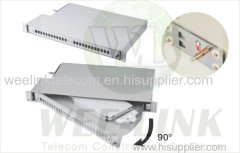 19' rack mount 1U Fiber Optic Patch Panel for Duplex LC adapter