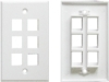Single/ dual Port 86*86 Type Network Face Plate Wall Information Faceplates/ Network Wall Outlets