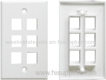 Simples / Doubles Ports 86 * 86 Types De Plaques Frontales Réseau / Plaques Murales