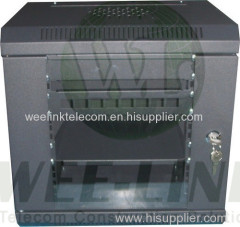 19 inch 4u glass door wallmount server cabinet