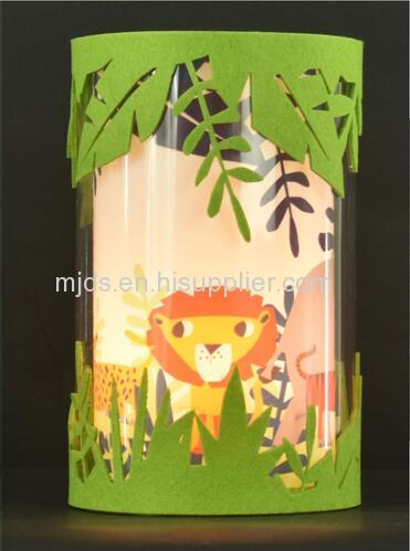 Jungle fun table lamp for children