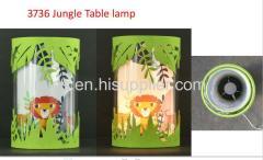 Jungle fun table lamp for children
