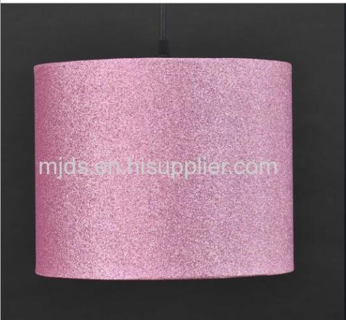 Pink Giltter Pendant Shade Ideal For Girl's Bedroom