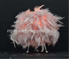 Chole Feather Table Lamp Pink