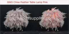 Pink Feather Table Lamp
