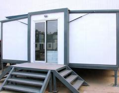 modern tiny modular prefabricated flat pak expandable cargo cabin container house