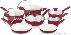 12pc Ceramic Non-Stick Cookware Set