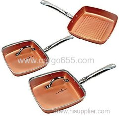 Square Fry Pan 5 Pc set