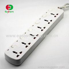 6 Way Universal Household Electrical Extension Socket