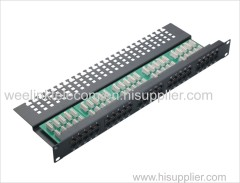 Utp modular telephone/voice 50port Cat3 Rj11 patch panel