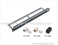 "19"" Unloaded cat5e cat6 patch panel 24port network blank patch panel"