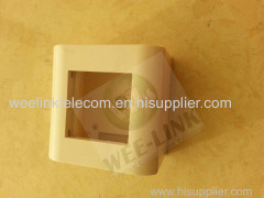 French RJ45 Flat 1 port Face plate 80 80mm