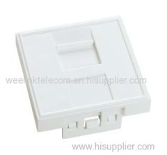french Standard 45X 45mm face plate rj45 faceplate