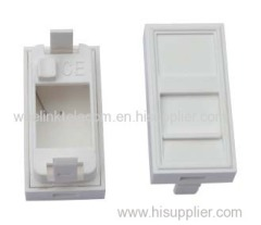 French Type RJ45 Jack Module Face Plate with keystone jack